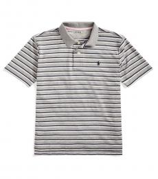 Ralph Lauren Boys Andover Heather Striped Performance Polo