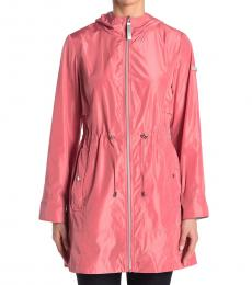 Vince Camuto Coral Solid Hooded Anorak Jacket
