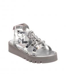 Stella McCartney Little Girls Silver Stars Sandals