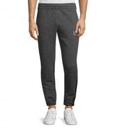 Emporio Armani Dark Grey Logo Tape Sweatpants