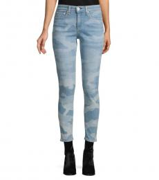 Rag And Bone Faded Camo Mid-Rise Ankle Skinny Jeans