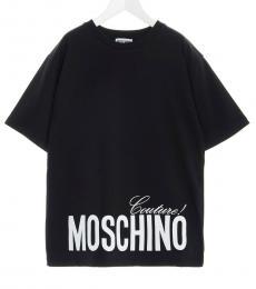 Moschino Little Girls Black Logo T-Shirt