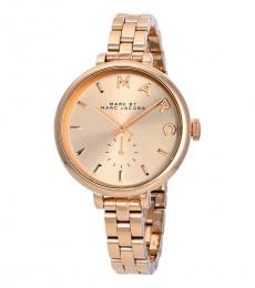 Marc Jacobs Rose Gold Sally Logo Watch