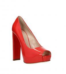 Giuseppe Zanotti Red Peep Toe High Heels