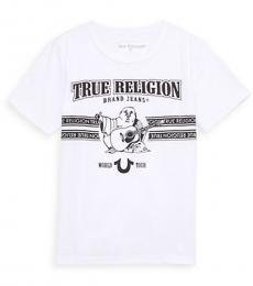 True Religion Little Boys White Logo Graphic T-Shirt