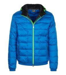Turquoise Solid Puffer Jacket