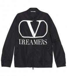 Valentino Garavani Black Logo Jacket