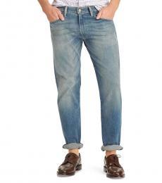Ralph Lauren Blue Hampton Relaxed Straight Jeans