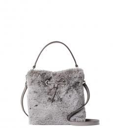 Kate Spade Grey Eva Mini Bucket Bag
