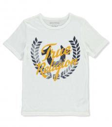 True Religion Boys White Logo Graphic T-shirt