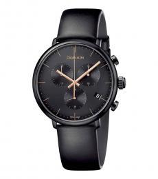 Calvin Klein Black Logo Black Dial Watch