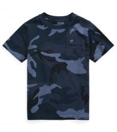 Ralph Lauren Little Boys Blue Surplus Camo Pocket T-shirt
