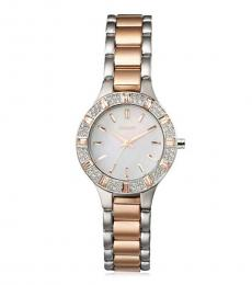DKNY Silver Two-Tone Bracelet Watch