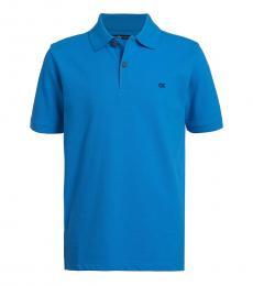 Calvin Klein Boys Blithe Blue Logo Polo