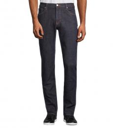 Michael Kors Navy Blue Classic-Fit Tailored Jeans