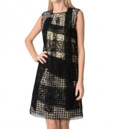 Bottega Veneta Multicolor Embroidered Lace Shift Dress