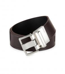 Black Brown Reversible Leather Belt