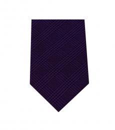 Michael Kors Purple Modern Striped Slim Silk Tie