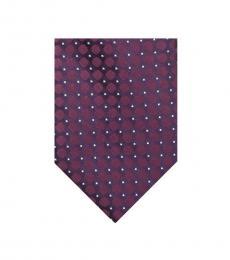 Calvin Klein Burgundy Power Dot Slim Tie