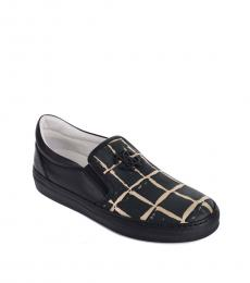 Roberto Cavalli Black Block Squared Loafers