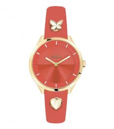 Furla Orange Stylish Edgy Watch