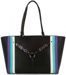 Versace Jeans Black Stripes Large Tote