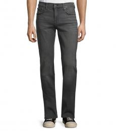 7 For All Mankind Grey Slimmy Squiggle Skinny Jeans
