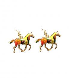 Multi Color Enameled Earrings