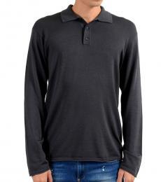 Armani Collezioni Grey Polo Sweater