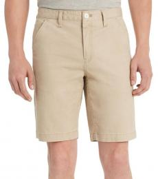 Pine Nut Twill Flat Front Shorts