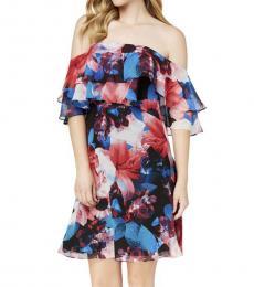 Calvin Klein Multi color OffShoulder Floral Dress