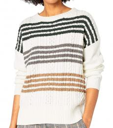 Off White Long Sleeve Pullover Sweater