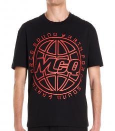 McQ Alexander McQueen Black Red Logo T-Shirt