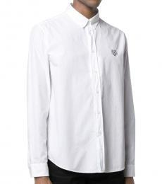 White Signature Button-Down Shirt