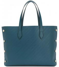 Givenchy Petrol Blue Bond Debossed Large Tote