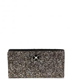 Kate Spade Rose Gold Adette Glitter Wallet