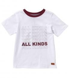 7 For All Mankind Little Boys White All Kinds T-Shirt