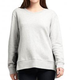Grey Side-Tie Sweatshirt