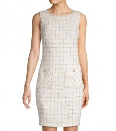 Karl Lagerfeld White Printed Mini Dress