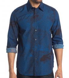 Navy Blue Luxx Button-Down Shirt