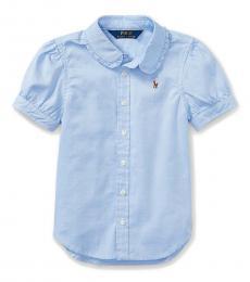 Ralph Lauren Little Girls Blue Oxford Shirt