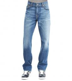 Indigo Relaxed Straight Jeans