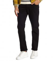 7 For All Mankind Black Straight Jeans