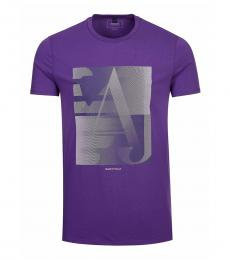 Armani Jeans Purple Graphic Print T-Shirt
