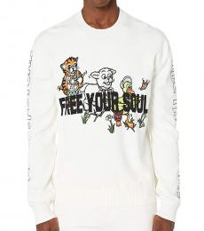McQ Alexander McQueen White Free Your Soul Sweater