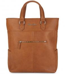 Cognac Laurence Convertible Large Tote