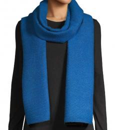 Calvin Klein Montana Sky Pleated Double-Faced Blanket Scarf
