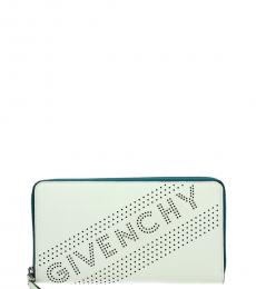 Givenchy White Perforated Logo Wallet