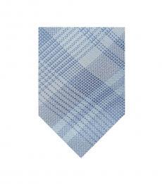 Light Blue Glen Check Tie