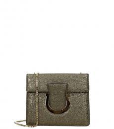 Salvatore Ferragamo Gold Thalia Small Shoulder Bag
